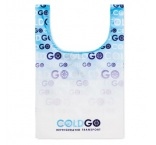 MB1011 - Foldable vest shopping bag in 210D with inside pocket. Min 250 pcs