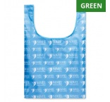 MB1111 - Foldable vest shopping bag in RPET with inside pocket. Min 250 pcs