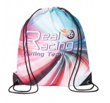 MB3001 - Polyester drawstring bag with PU corners. Min 250 pcs