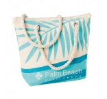 MB8201 - Canvas beach bag with rope handle. Min 250 pcs