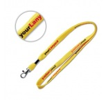 ML1014 - Tubular lanyard with metal clamp. Min 100 pcs