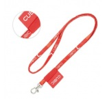 ML1046 - Full colour tubular lanyard with woven label. Min 100 pcs